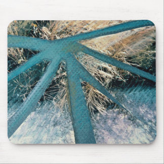 Burst of blue, mixed media, collage on paper mousepads