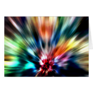 Burst of Colors Greeting Card