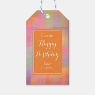 Burst of colour gift tags
