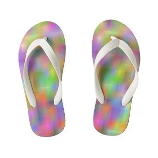 Burst of colour kid's flip flops