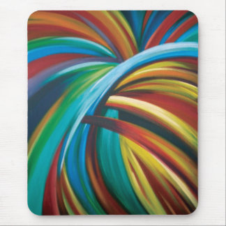 Burst of colour mouse pad