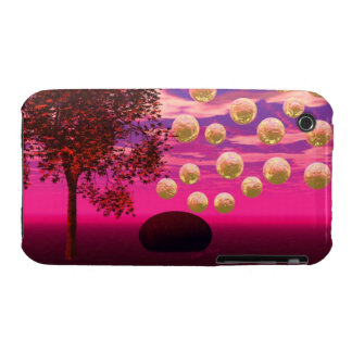 Burst of Joy – Abstract Magenta & Gold Inspiration iPhone 3 Case-Mate Cases