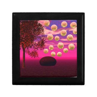 Burst of Joy – Abstract Magenta & Gold Inspiration Small Square Gift Box
