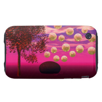 Burst of Joy – Abstract Magenta & Gold Inspiration Tough iPhone 3 Covers