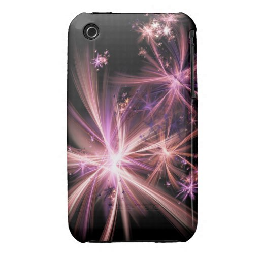 Burst of Pink Abstract Fractal Art iPhone 3 Case-Mate Case