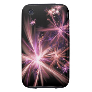 Burst of Pink Abstract Fractal Art iPhone 3 Tough Cases