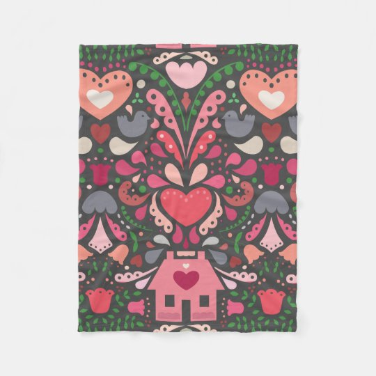 Bursting at the Seams with Love! Fleece Blanket
