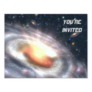 Bursting Black Hole 11 Cm X 14 Cm Invitation Card