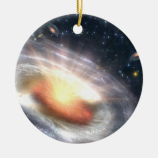 Bursting Black Hole Round Ceramic Decoration