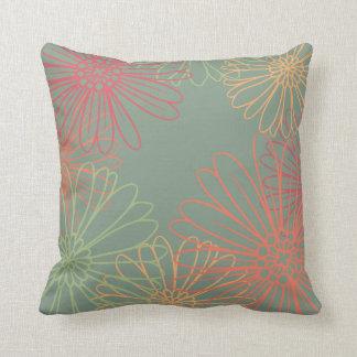 Bursting Daisies Floral Pattern Cushion