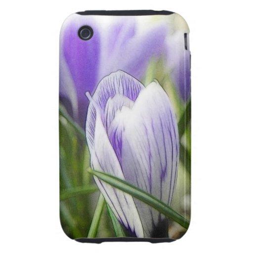 Bursting Into Blossom - Crocuses! Tough iPhone 3 Cover