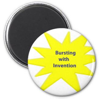 Bursting Invention 6 Cm Round Magnet