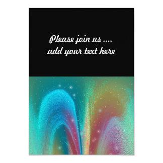 Bursting Nebula Fantasy Galaxy Abstract Art 13 Cm X 18 Cm Invitation Card