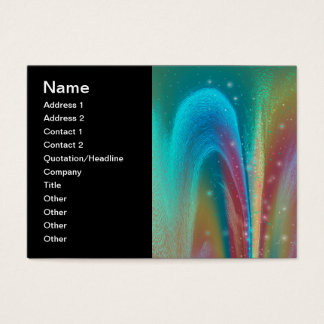 Bursting Nebula Fantasy Galaxy Abstract Art Business Card