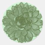 Bursting Open - Green and Blue Round Sticker