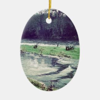 Bursting river christmas ornament