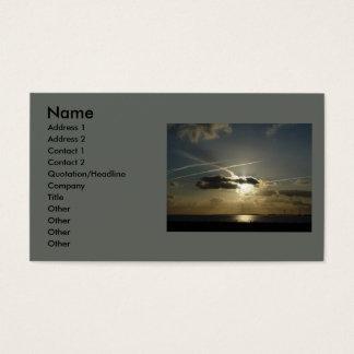 Bursting White Sunset Business Card