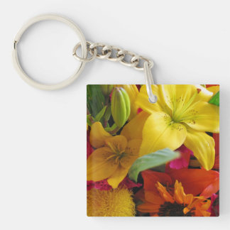 Bursts of Colors Key Chain