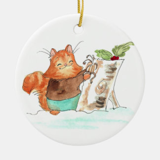 Burt and the Yule Log Christmas Ornament