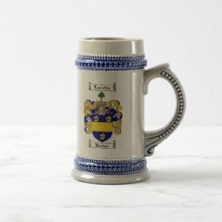 Burton Coat of Arms Stein Burton Family Crest Coffee Mugs
