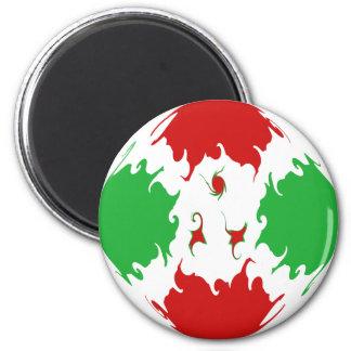 Burundi Gnarly Flag 6 Cm Round Magnet