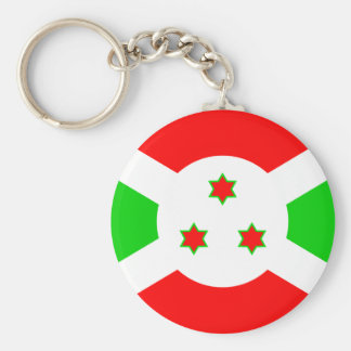 Burundi High quality Flag Basic Round Button Key Ring