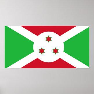 Burundi National World Flag Poster