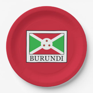 Burundi Paper Plate