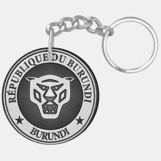 Burundi Round Emblem Key Ring