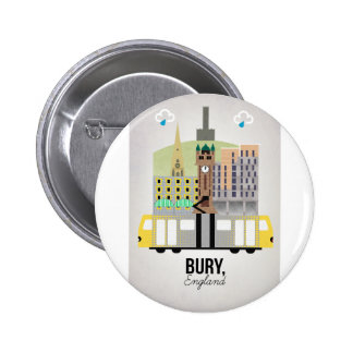 Bury 6 Cm Round Badge