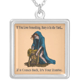 Bury It, It's Your Zombie Silver Plated Necklace