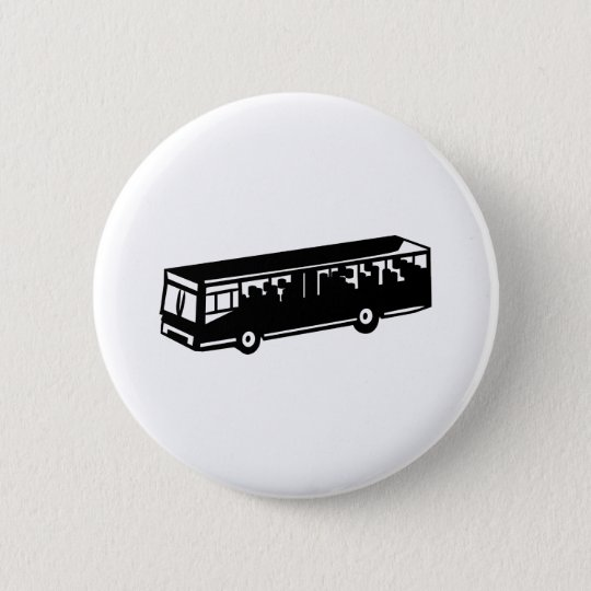 Bus 6 Cm Round Badge