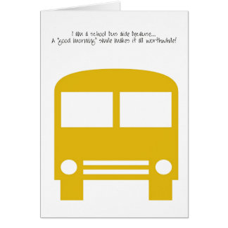 Bus Aide - A Good Morning Smile Card