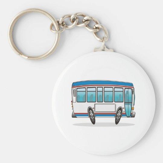 Bus Basic Round Button Key Ring