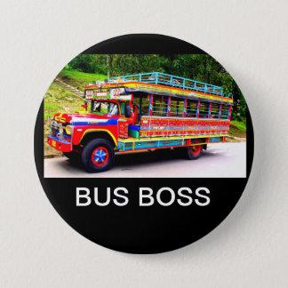 BUS BOSS 7.5 CM ROUND BADGE