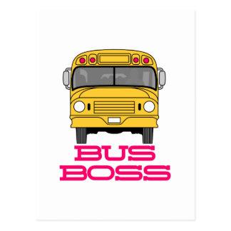 Bus Boss Postcard