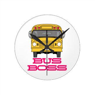 Bus Boss Round Clock