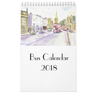 Bus Calendar 2018