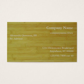Bus. Card - Bamboo boards