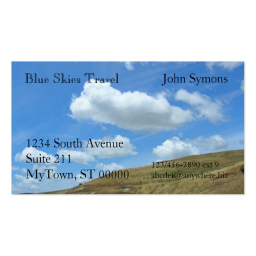 Bus. Card - Cloudy sky over hill Business Cards