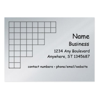Bus. Card - corner grid Large Business Cards (Pack Of 100)