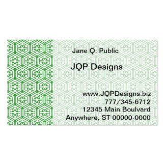 Bus. Card - Green Hexagon Pattern Pack Of Standard Business Cards