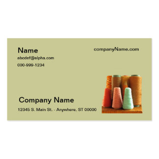 Bus. Card - Spools of yarn Business Card Template