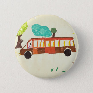 bus drawing by kid badge