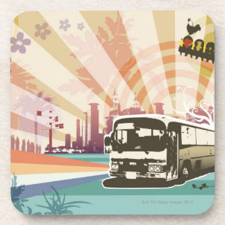 Bus Drink Coaster