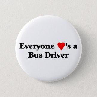 Bus Driver 6 Cm Round Badge