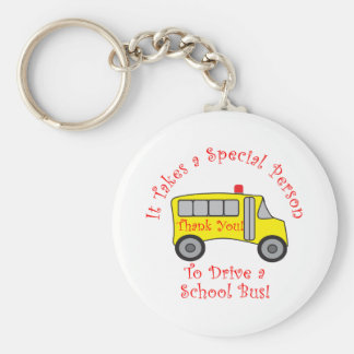 Bus Driver Basic Round Button Key Ring