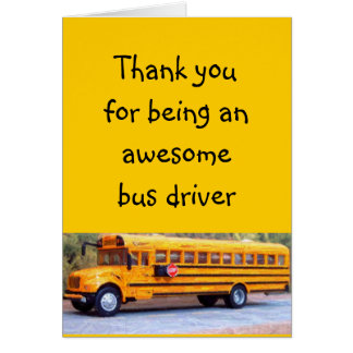 Bus Driver Thank You Cards, Photo Card Templates ...