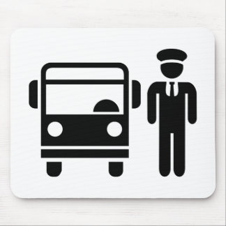 Bus driver mouse mat