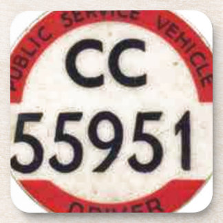 BUS DRIVER UK BADGE RETRO COASTER